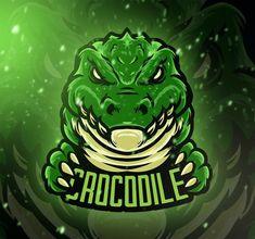 Crocodile Esport Logo Template PSD, AI, EPS