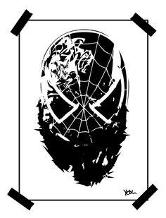 #thuglife - Spider - Bu Artist YoXx  #spidermant #geekart #tattoo #graffiti