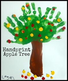 Handprint Apple Tree ~ Fun Fall Art Project For Kids (she: Brooke) - Or so she says...
