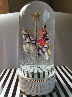 HENRI BENDEL - 2013 CAROUSEL COUTURE SNOW GLOBE - NEW IN BOX GREAT GIFT!!!