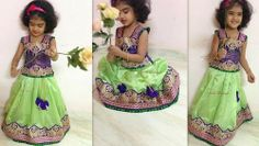 Cute Kid in Pastel Green Skirt | Indian Dresses