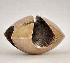 Bronze Minimalist Abstract sculpture by artist Jens Ingvard Hansen titled: 'Balance (Bronze Indoor Saclpture or Ornament)' £1117 #sculpture #art