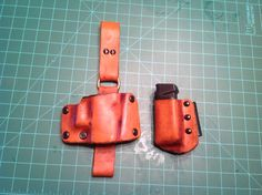 Glock 23 leather and kydex tactical sheaths