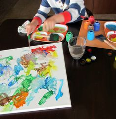 Easy-To-Do Kids Painted Canvas Art