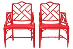 Faux-Bamboo Chippendale-Style, Chairs on OneKingsLane.com