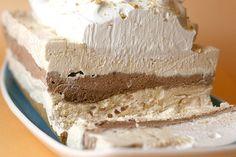 Chocolate & Peanut Butter Ribbon Dessert