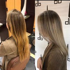 """20 Likes, 1 Comments - Sarah Mathews (@sarahgmathews) on Instagram: """"Left side view, (Left: Before, Right:After) #iamgoldwell color, styled with #arrojonyc product.…"""""""