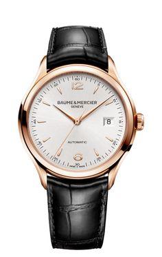 Clifton 10058 automatic red gold watch for men - Baume et Mercier