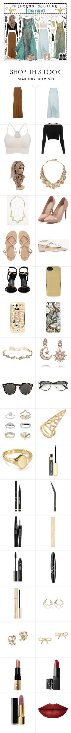 """""""- ̗̀ Princess Couture: Jasmine ̖́-"""" by i-get-a-little-bit-breathless ❤ liked on Polyvore featuring Donna Karan, Chloé, maurices, Topshop, Kate Spade, ASOS, Valentino, Giuseppe Zanotti, Incase and claire's"""
