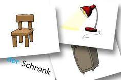 DaZ Material Grundschule - Bildkarten Möbel