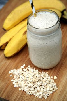 Going to try this w/out Soy milk... Overnight Oats Smoothie | POPSUGAR Fitness