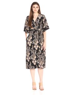 Cynthia Rowley Women's Ornate Flower Print Gown