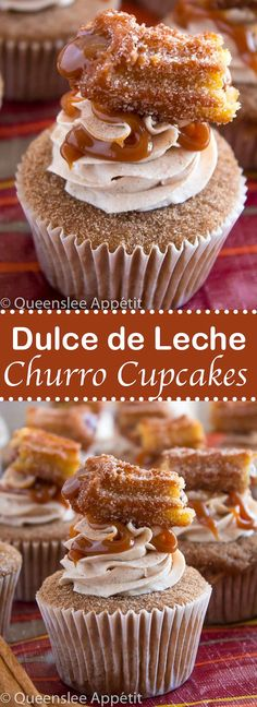 Take your favourite cinnamon/sugar treat and turn it into cupcakes! These Dulce de Leche Churro Cupcakes are a must for Cinco de Mayo! Soft and fluffy cinnamon cupcakes, filled with gooey dulce de leche, dipped in cinnamon sugar, topped with cinnamon buttercream and a dulce de leche filled churro!
