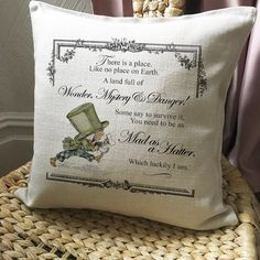 A new look design for the alice in wonderland cushion covers. 😊
