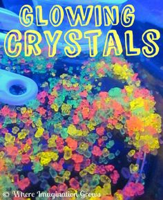Glowing Crystals Black Light Play from Where Imagination Grows