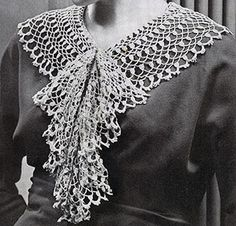 Lace jabot crochet pattern originally published in paris sponsors free vintage crochet cluster collar and jabot pattern dt1010fo