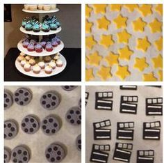 movie premiere red carpet cupcakes