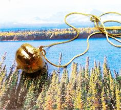 Real Leaf Jewelry, Acorn Necklace, 24K Gold Covered. Natures Leaves by WoodSmith $12.95, via Etsy.