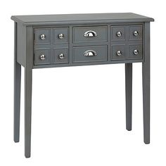 Marshall Soft Gray Console Table   Kirklands