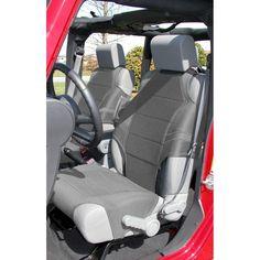 Neoprene Seat Protector Vests, Gray; 07-16 Jeep Wrangler JK
