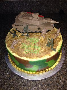 Army tank birthday cake.