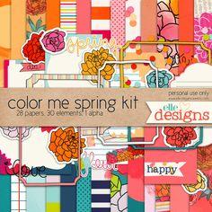 Quality DigiScrap Freebies: Color Me Spring mini kit freebie from Elle Designs