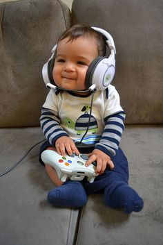 Gamer baby! and what Matt will probably have Sophia doing :)