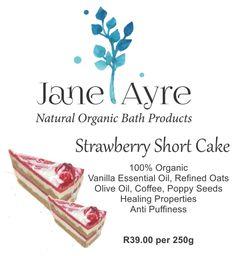 Strawberry Short Cake 100% Organic Soap