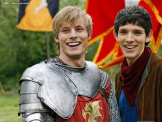Bromance defined: two guys who would give their lives for each other and still tell each other off when necessary. With King Arthur and Merlin, his servant, it brings out the best in both of them. Lovely to watch.