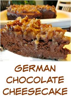 German Chocolate Cheesecake a rich indulgent, homemade cheesecake recipe. The perfect ending for a perfect meal!