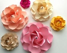 PDF Tiny Rose 3 Paper Flower 6 Different sizes Trace and   Etsy Giant Paper Flowers, Tiny Flowers, Flower Petals, Fabric Flowers, Flower Petal Template, Flower Tutorial, Word Doc, Rose Buds, Paper Crafts