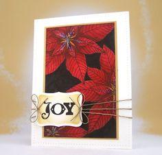 @Jill Meyers Meyers Foster's Christmas card  using Stamper's Big Brush Pens.