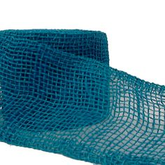 """4"""" Jute Ribbon Blue 10 yard roll - more colors at www.trendytree.com $8.25"""