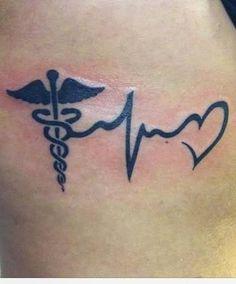 Image result for caduceus tattoo nursing small