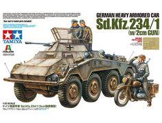Tamiya 37019 German Heavy Armored Car Gun) scale kit for Like the Tamiya 37019 German Heavy Armored Car Gun) scale kit? Tamiya Model Kits, Tamiya Models, Armored Vehicles, Armored Car, Afrika Korps, Military Figures, Military Modelling, Battle Tank, German Army