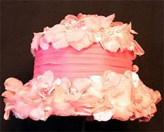 Vintage Hat with Pink Flowers 1960s
