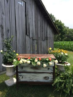 Whiskey Barrels Amp Rustic Door Gift Table At The