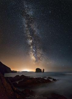 Notturna a Portu Banda, una piccola caletta situata nella località di Nebida, nel comune di Iglesias, Sardegna. Settembre 2014 - Sony α7, ISO 6400