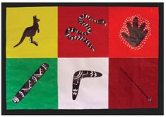 Aboriginal-style art and craft. Colours, animals and tools Book Crafts, Arts And Crafts, Star Wars Crafts, Aboriginal Culture, Student Drawing, Cut Out Shapes, Shape Crafts, Australian Curriculum, Artwork Display