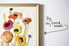 embroidery {from @miss james via @Poppytalk Handmade}