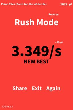 Reverse Rush Mode, 3.349/s ! Who can beat me in @PianoTiles -> http://st.umoni.com