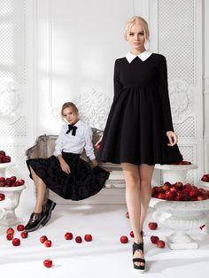 Юбка «Кристи» мини— 13990рублей, Платье «Берта» черное— 19 990 рублей