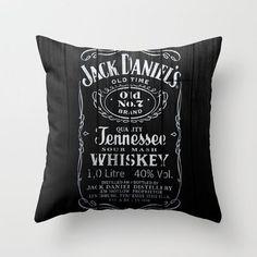 Jack Daniels Throw Pillow by Nicklas Gustafsson   Society6 $20.00