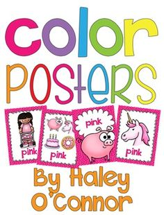 This is a bundle of 4 different versions of full page color posters. :) You can decide which one works best for you and your kiddos! Each color has a fun little pattern, including chevron, polka dot, stripes, and crosshatch!