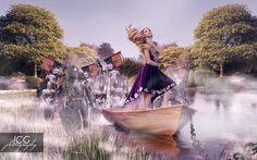 Royal destiny photoshooting in Herastrau Park #composition #photoshop #imagination #editorial #king #knights #boat #makeupartist #park #dreams #team #nikon #elinchrom #sword #kingdom #ruller #flags