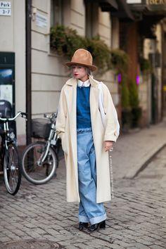 Hat, jeans. nicole walker