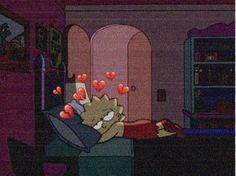 "Iphone Wallpaper - Lisa Simpson is sleepy head (""The Simpsons"") # Cartoon Wallpaper, Simpson Wallpaper Iphone, Mood Wallpaper, Tumblr Wallpaper, Wallpaper Iphone Cute, Aesthetic Iphone Wallpaper, Disney Wallpaper, Cute Wallpapers, Aesthetic Wallpapers"