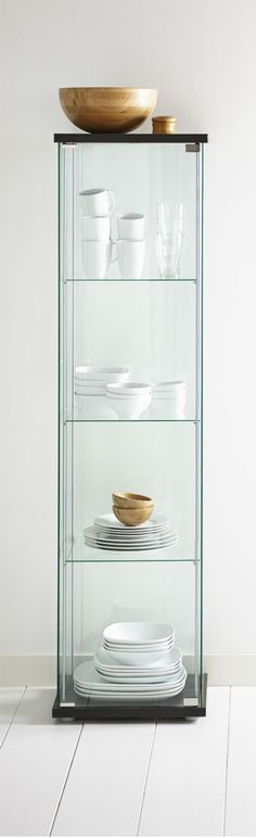 Glass on all sides of the DETOLF cabinet means your favorite things are always in view and dust-free, too.