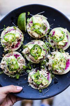 Watermelon Radish Tuna Tostadas – The Defined Dish