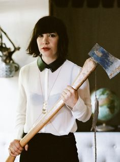 I love Carrie Brownstein in Portlandia... I love Portland and Sleater-Kinney was one of my favorite bands.